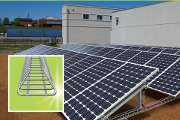 An innovative solar panel support … and cable management system in one.